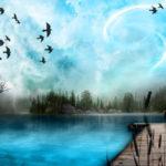 Blue art nature wallpaper
