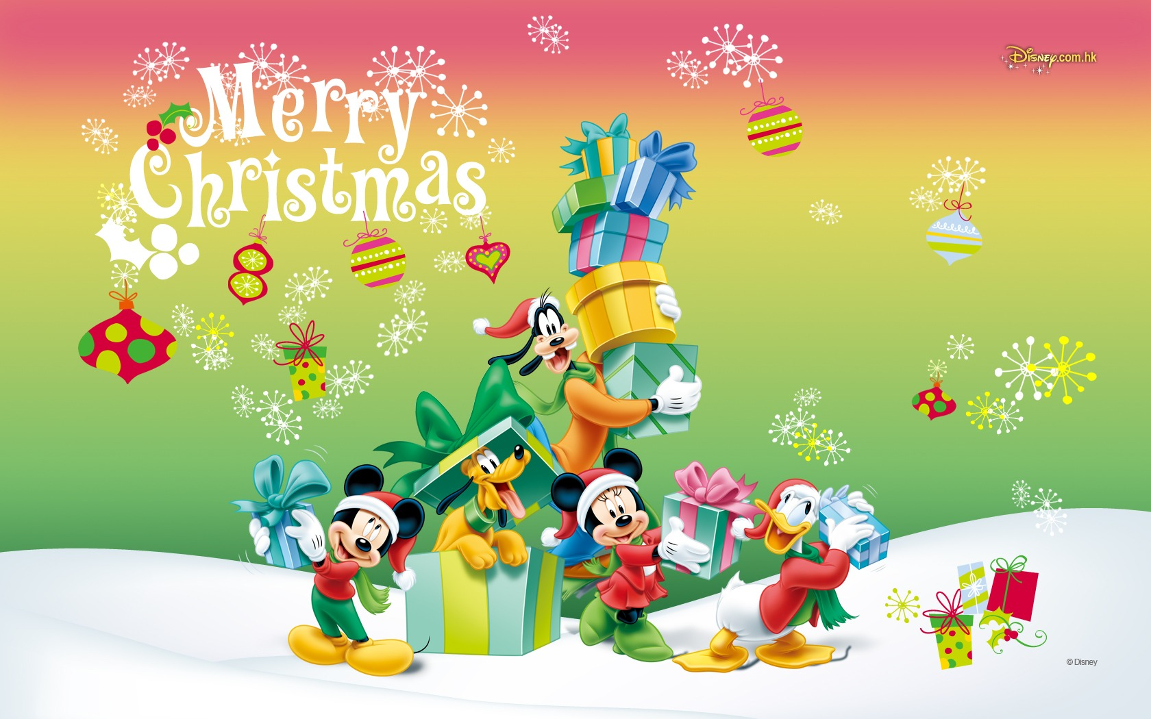Mickey Mouse Hd Wallpaper Christmas Children Free Download Hd